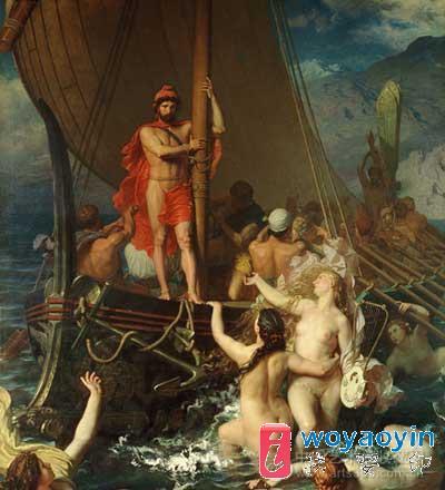 圣彩虹完美再现欧洲油画名作:贝利·雷昂-美人鱼
