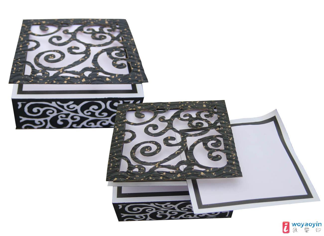 【供应】品名:创意手绘系列纸砖--黑色窗花