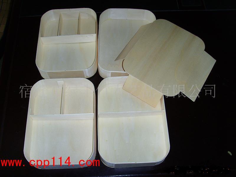 【供应】方形圆角木片便当盒